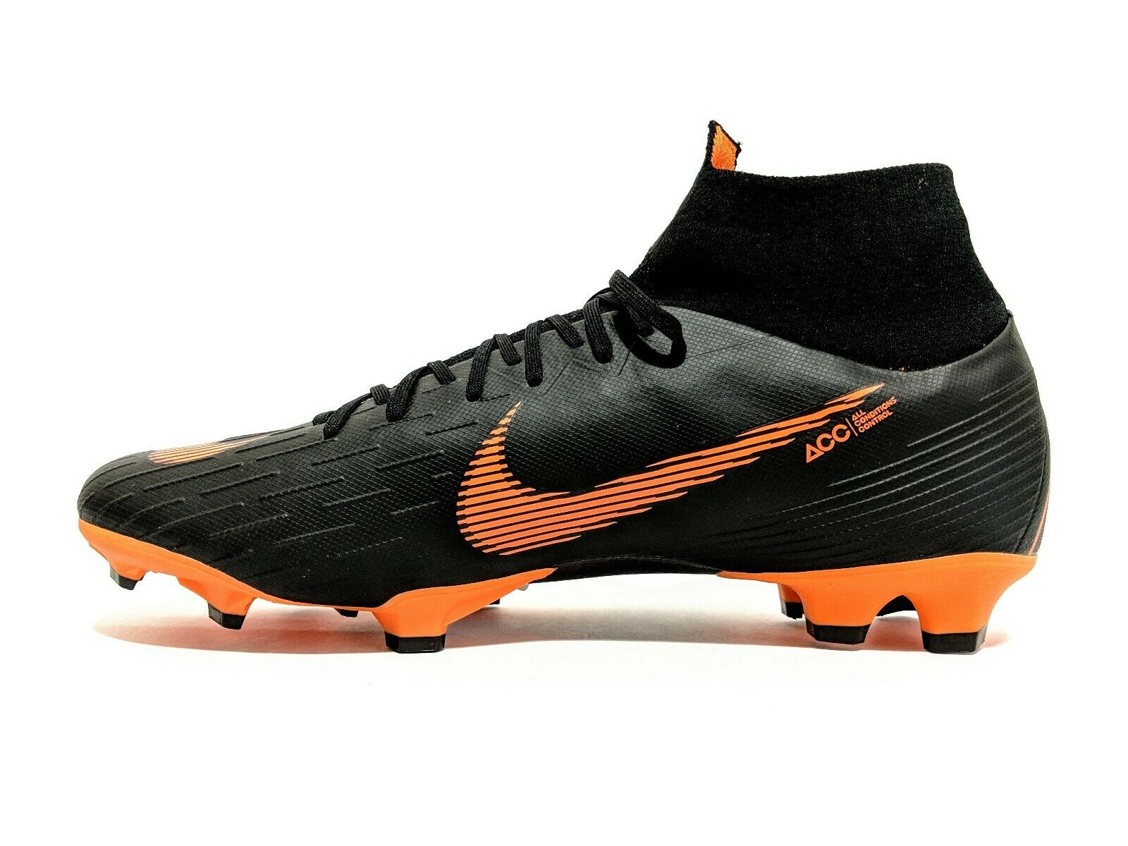 Nike Superfly 6 Pro FG Soccer Cleats Black orange [AH7368-081] Men's Size 12