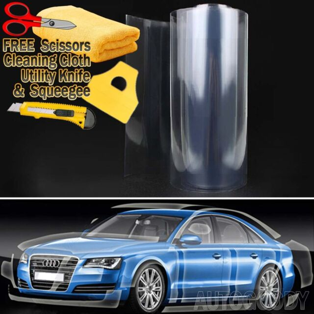 "36""x60"" Clear Bra Paint Protection Vinyl Film Wrap Transparent Car Paint Shield"