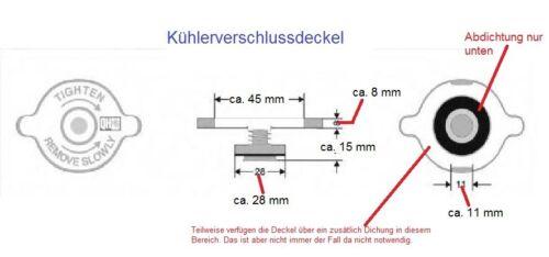 2,2 /& 3,2  Benziner Kühlerverschlussdeckel OPEL Frontera B KÜHLERDECKEL Deckel