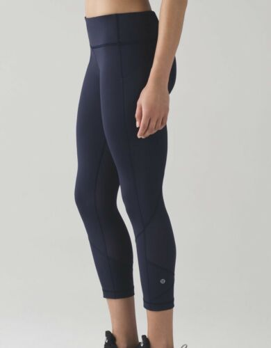 Lululemon Pace Rival Cropped Leggings Pants Midnig