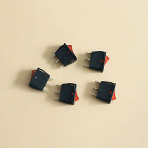 5x ac 15a 250v red light power on off 2 position spst rocker switchimage is loading 5x ac 15a 250v red light power on