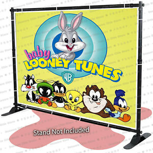 Baby Looney Tunes Personalized Birthday Banner Backdrop Party