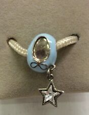 Chamilia Jewelry Blue Baby Shoe Clear Star Swarovski Crystal Bead Charm