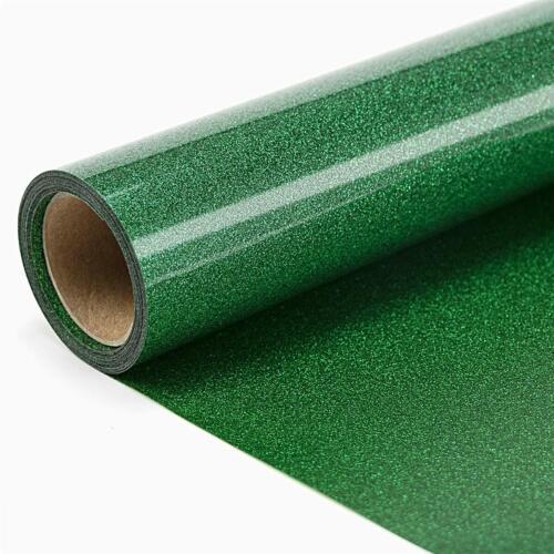 T-Shirt Glitter HTV PU Holographic Vinyl for Heat Press Transfer Green Iron On
