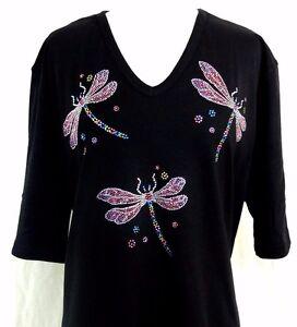 6ed5fa14f0156 Image is loading PLUS-SIZE-Rhinestone-Embellished-Shimmering-Colorful- Dragonfly-Short-