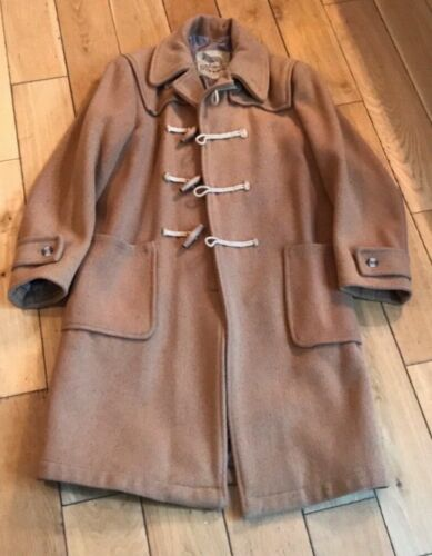 vintage original duffer coat - classic camel beige
