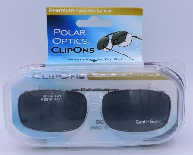 57eff0f1d647e Polar Optics Clip Ons premium Polarized glasses lenses cover W  Case 50 Rec  15