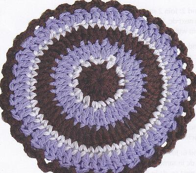 Crochet Pattern ~ ROUND HOT PAD ~ Instructions