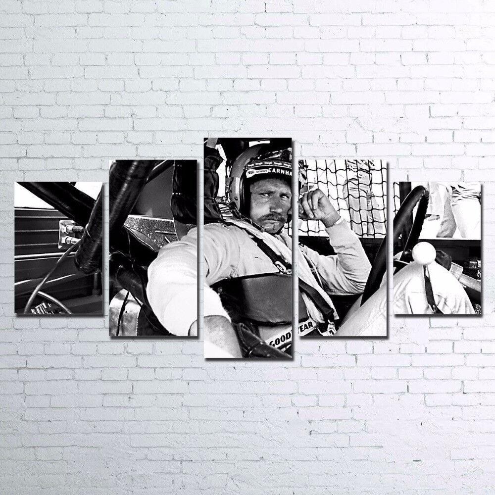 Dale Earnhardt Nascar American Race Car Driver 5 Panel Canvas Print Wall Art