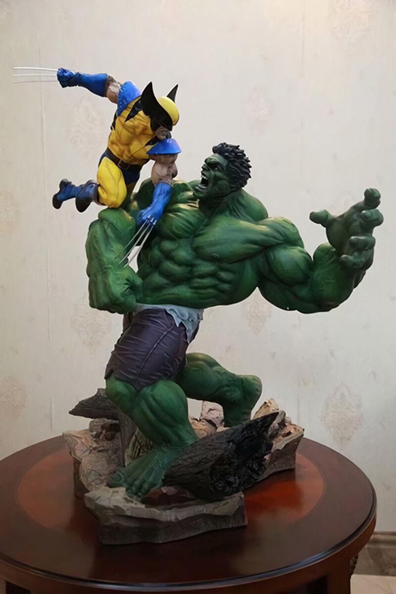 Marvel Hulk Vs Wolverine 14  PVC Maquette Estatua Figura Coleccionable Juguetes Con Caja