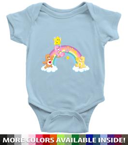 Care-Bears-Rainbow-Friends-Kawaii-Cute-Infant-Baby-Rib-Bodysuit-Clothes-Babysuit