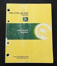 1988 92 John Deere 4555 4755 4955 Tractor Operators Manual Very Good Shape