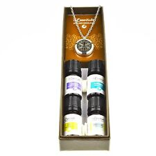 Flower of Life Essential Oil Diffuser Necklace Stainless Steel Locket Pendant...