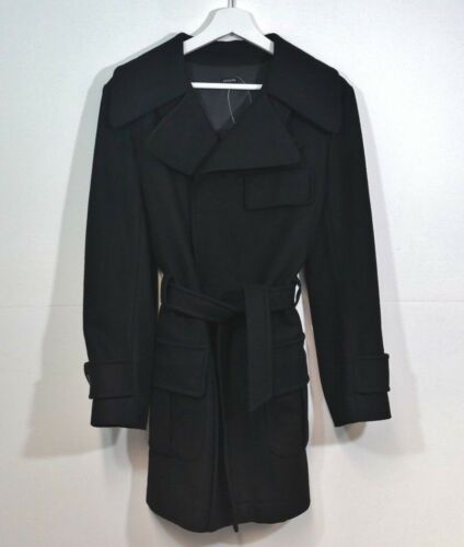 Mac Size 8 Coat Small Black 10 Belted Joseph Wool nF4qBO