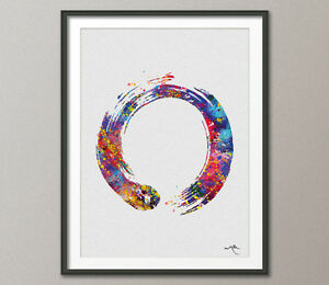 Zen Circle Enso Symbol Buddhism Meditation Yoga Watercolor Print Wall Art Poster - <span itemprop=availableAtOrFrom>Durham, United Kingdom</span> - If you are unhappy with your order for any reason please contact me within 14 days of receiving your package. I will do my best to resolve the problem quickly. I will refund (item price on - Durham, United Kingdom