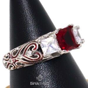 Gorgeous-2CT-Red-Ruby-Ring-Women-Anniversary-Nickel-Free-Jewelry-14K-White-Gold