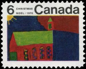 Canada-528-CHRISTMAS-CHURCH-New-Issues-1970-Pristine-Gum