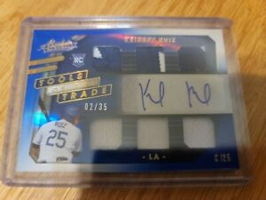 2021 Keibert Ruiz-Absolute Tools of the Trade blue Auto 6 Patch Dodgers sp 02/35