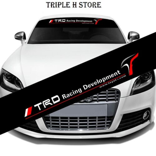 130*21cm Reflective TRD Windshield Banner Decal Car Sticker for Toyota