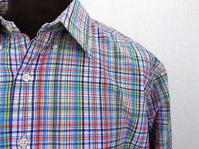 Polo Ralph Lauren Long Sleeve Shirt Button Down Multi-Color Plaid Classic Fit XL