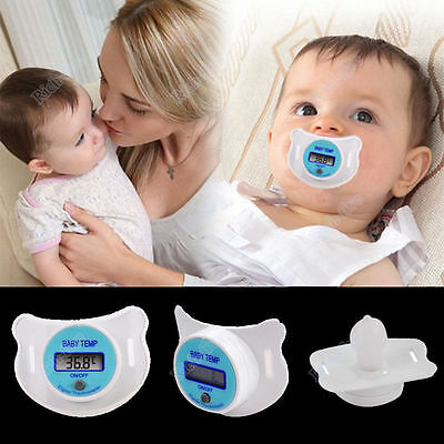 Useful Baby Practical Mouth Nipple Temperature Thermometer LCD Digital Pacifier
