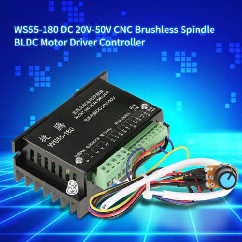 WS55-180 DC 20-50V CNC Brushless Spindle 3 Phase BLDC Motor Driver Controller
