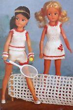 Muñecas Vintage Tejer patrón Barbie/Sindy Deportivo Top Tenis Vestido de Superdry E6751