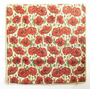 Poppy-Flower-Design-Tapestry-Cushion-Cover-Signare-Set-of-2-Matching-Covers
