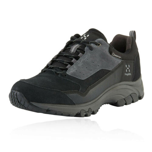 Black Grey Sports Outdoors Haglofs Mens Skuta Low Proof Eco Walking Shoes