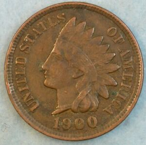 1900-Indian-Head-Cent-Penny-Liberty-Very-Nice-Vintage-Old-Coin-Fast-S-amp-H-36114