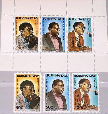 Burkina Faso Streng Burkina Faso 1989 1198-01 Block 131 Fespaco Film Festival Actors Schauspieler ** Zu Hohes Ansehen Zu Hause Und Im Ausland GenießEn
