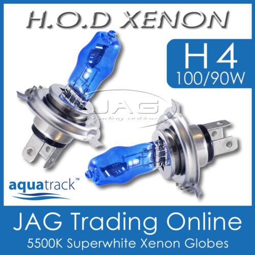 12V HOD XENON H4 100//90W 5500K SUPERWHITE HEADLIGHT CAR//AUTO WHITE GLOBES//BULBS