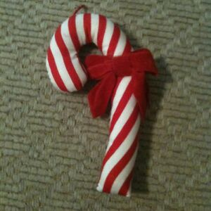 8ccf414b819 Image is loading Vintage-Stuffed-Candy-Cane-Christmas-Ornament-5-5-