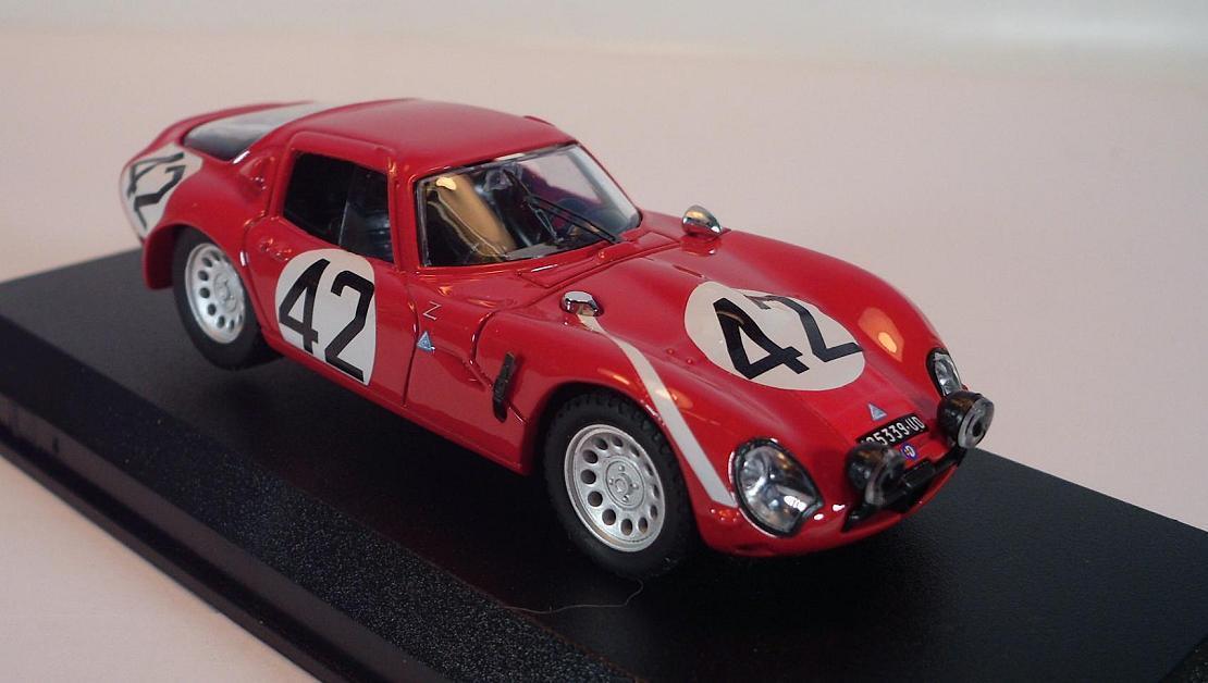 MODEL BEST 1/43 ALFA ROMEO TZ 2 Le Mans 1965 OVP  823