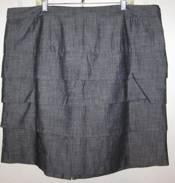 f616dbbad6 Cato Woman misses plus sz 24w gray tiered pencil skirt j64 | eBay