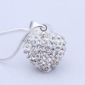 stile-le-donne-collana-l-039-amore-il-ciondolo-a-forma-di-cuore-placcati-in-argento