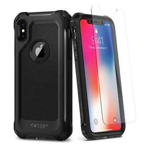 Spigen iPhone X Signature Case Pro Guard Black (SF Coated)