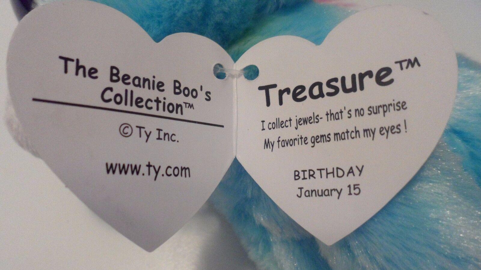 TY BEANIE BOOS - TREASURE TREASURE - the UNICORN -  MINT TAGS - JUSTICE STORE - PLEASE READ 4c2fda