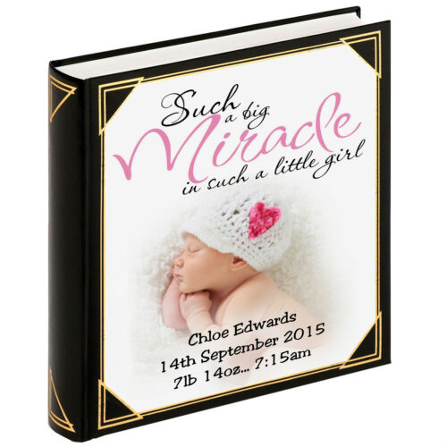 "Baby girl birthday 400 x 6x4/"" photos Personalised large photo album guestbook"