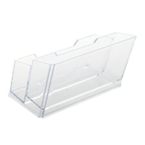 Transparent Plastic Bussiness Card 2-Tier Stand Holder X6B5