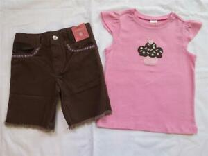 NWT Gymboree Girl Outfit Mix/'n/'Match Blue Cupcake Tee //Grey Leggings 5 6