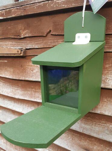 Wooden Squirrel feeder.