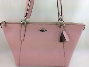 3c98dc9c2 New Authentic Coach F57526 AVA Leather Tote Handbag Purse Bag Petal ...