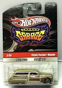 Hot Wheels LARRY/'S GARAGE PURPLE PASSION WOODIE BLACK REAL RIDERS 1:64