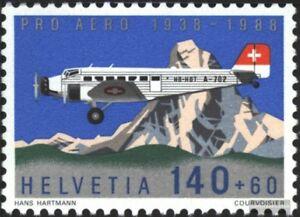 Schweiz-1369-kompl-Ausg-gestempelt-1988-Pro-Aero