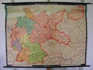 Schulwandkarte Wandkarte map Karte Deutschland Germany 1937 ...