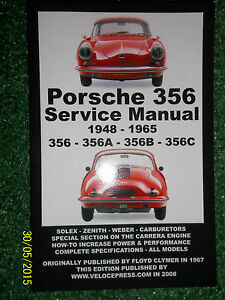 PORSCHE-356-356A-356B-amp-356C-SERVICE-MANUAL-inc-PERFORMANCE-TUNING-1948-1965