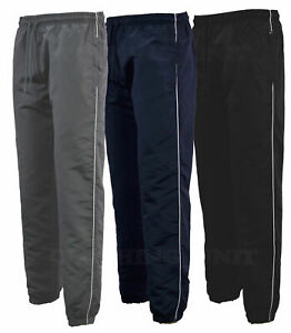Mens-Tracksuit-Bottoms-microfibre-Jogging-Trousers-Sport-Gym-Zip-Pockets-S-2XL