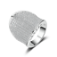 Fashion 925 Argent Blanc AAAAA Saphir Pierre de Naissance Fiançailles Mariage marque Ring