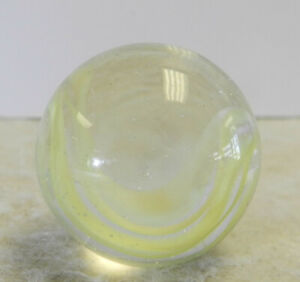 #13002m Vintage Vitro Agate Horseshoe Cat's Eye Shooter Marble .86 Inches